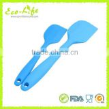 2PCS L S Size Silicone covered Metal Non-Stick Spatula Set, Kitchen Utensils, Baking Tools