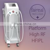 Multifunctional IPL rf Hair Removal Machine For lip , body Hair Remover / Acne Treatment ipl