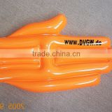 inflatable cheer hand / pvc inflatable finger toy