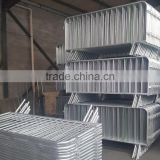 Galvanized steel 1.1X2m road barrier/temporary pedestrian control barrier/metal crowd PVC safety fence panel,ISO Certification