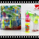 hot sale eco-freindly musical transparent bubble gun with LED light