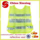 100% polyester high visibility vest safety reflective vest Hi-vis reflective vest factory supply