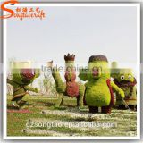 Customized garden decoration artificial topiary factory customized topiary frame animals
