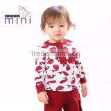 MIQIDIDA kids clothes manufacturer autumn style round animal print baby clothes wholesale price