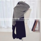 latest style acrylic warm ladies striped scarf