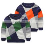 Knitting Pattern Children Sweater Children Boys Pullover Sweater Round Neck Sweater Korean Baby