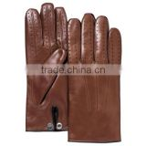 women dressing new style red leather fashion glove