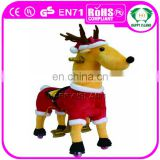 HI Hot sale plush deer rocking horse baby walker with wheels