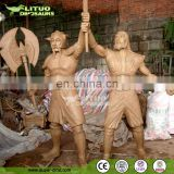 Outdoor Fiberglass Decorative Figure Sculpture