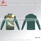 Sublimation Long Sleeves Any Style Custom Uv Protection Jersey Shirt For Fishing