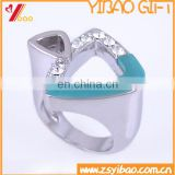 Customized Fashion Crystal and Rhinestone Finger Ring For Gift Or Souvenir