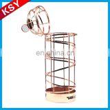 Best Selling Superior Quality Decorative Wall Mounted Portable Metal Wire Racks Wine Bottle Holders