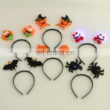 Easter Halloween growing bat Headbands festival party favor products led pumpkin spider ghost Hair Band for children