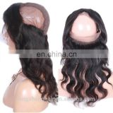 hair extension unprocessed virgin human hair 100% remy human hair 360 lace frontal closure