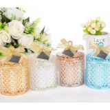Tropical Style Scented Ion Plating Crystal Glass Jar Candles