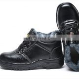 Anti-smashing Piercing Winter Boots plush  cotton   lining safety shoes  with steel toe cap and steel sole