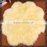 100% Australian Sheepskin Rug/ Sheepskin Rug Colored/Long Hair Sheepskin Rug with Flower Shaped