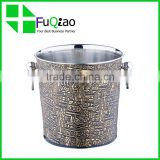 Trade Assurance Bar Accessories metal plastic cheap champagne ice bucket with lid