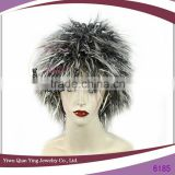 cheap mixed grey synthetic carnival party wigs