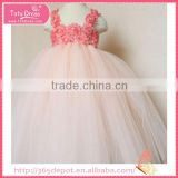 Satin Ribbon greenish yellow silk material blossom fluffy voile girl's dress children frocks designs