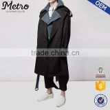2016 wholesales oversized wool long winter black trench coats for men                                                                         Quality Choice
