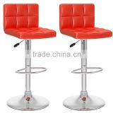Modern new design metal bases leather bar stool high chair