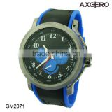 Wholesale Goods From China Black watch, Alloy Case Silicone Watch, Rubber band