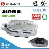 DLC UL approved led retrofit kit 100w 150w 300w led retrofit downlight with 5 year warranty