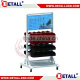 electronic Industrial ESD trolley with bins rails and tool panles