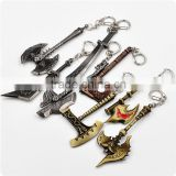 custom fashion of plastic, silicone, metal key chain/LOL, warcraft,hero alliance key chain