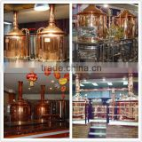 600L brewery machine in pub/hotel,copper beer brewing equipment,craft beer making system