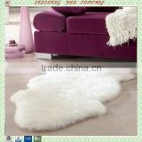 Luxurious sheepskin carpets for hotel decoration