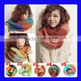 2014 Fashion Colorful Circle Loop Winter Knitted Scarf