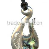 "Surf Surfboard Ocean Waves Surfing Sea Shell Slug Snail Maori Tattoo pendant Beach Pendant Charm Surfer Necklace ""Maori Spiral"""