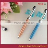 with stylus crystal pen,smartphone stylus crystal pen,with colors filled crystal pen