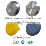 New design high quality stainless steel shining tactile tile for disable