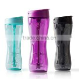 2015 irregular Shaker Cup Water shaker Bottle gym bottle with Straw & Chug Spout 24oz Mixer Protein Blender cups of plastic