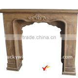 Shabby chic freestanding wood fireplace