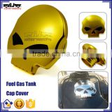 BJ-FTC-001-GO Gold Skull Screw-in Motorcycle Gas Tanks Cap for Harley Sportster Dyna