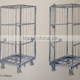 820*710*1750mm two sides roll container with belt movalbe wire mesh steel container cart