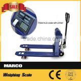 2 ton lift hand pallet truck weighing scale
