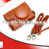 ONE high quality PU leather camera carring case for CANON POWERSHOT S90