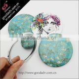 Tinplate professional cosmetic mirror/tin pocket mirror