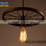 1-3-6-arm iron industrial wheel round chandelier country restaurant heavy metal industry the wind ancient lamp fixture