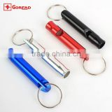 Goread Big Aluminum Survival whistle with key chain