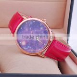 Women PU Leather Japanese Movement Quartz Water Resistant Watch