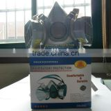 gas respirators actived carbon filter chemical respirator mask similar to 3M 6200 respirator for sales