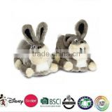 girls cute rabbit style indoor slippers/Slippers Plush Animal Bunny/plush rabbit slipper