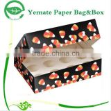 Wholesale custom printed Decorative Luxury foldable recycled color handmade empty gift macarons packaging box