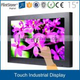 "FlintStone 15"" 19"" 22"" 32"" 42"" touch screen super tft lcd bus roof mounted 1366*768 led monitor with VGA DP H-D-M-I DVI AV input"